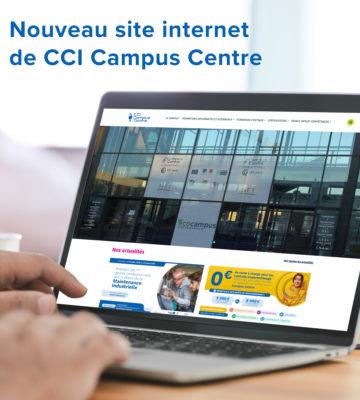 Nouveau site internet de CCI Campus CEntre